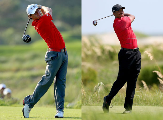 Rory and Tiger Woods will clash