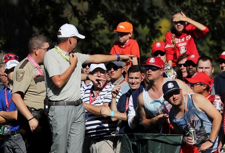 Golf fans behaviour become unruly