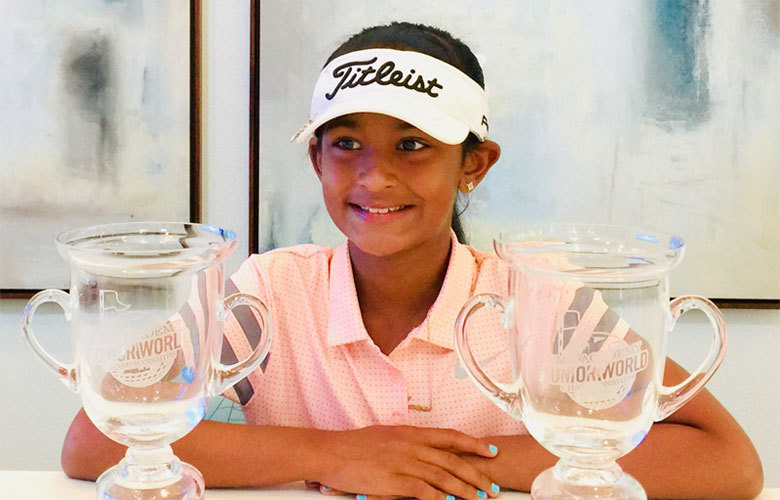 Golf prodigy Karina Jadhav