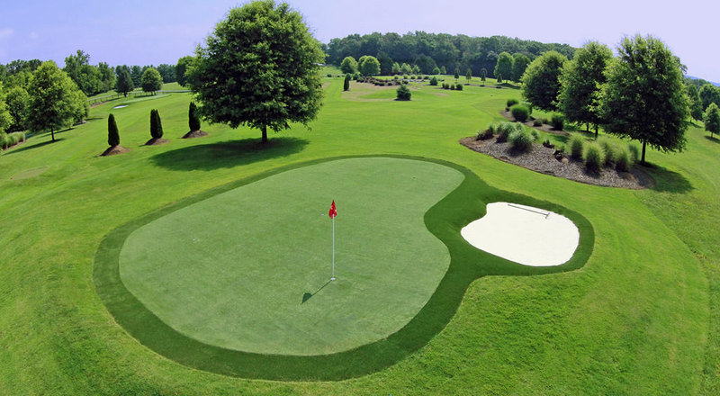 Golf courses synthetic turf