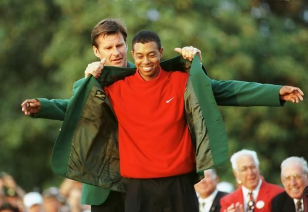tige woods first green jacket