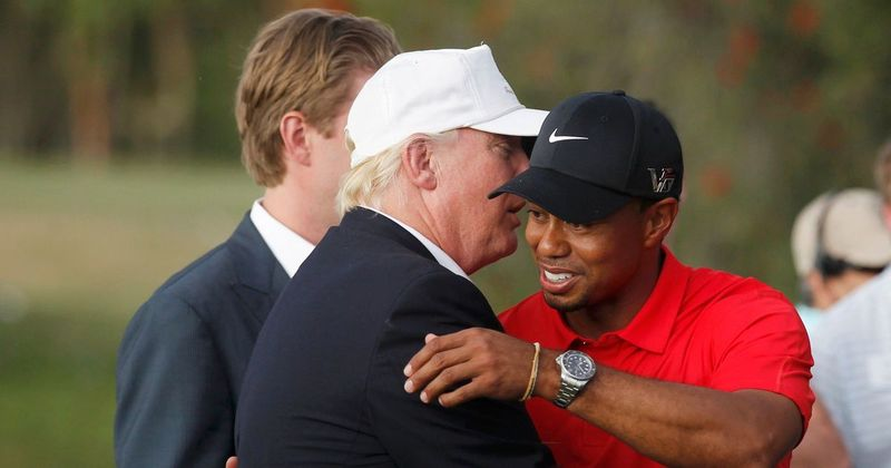 Donald Trump with Barack Obama