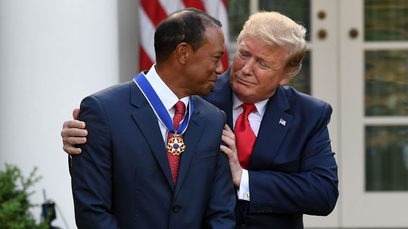 tiger woods and trump