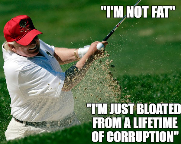 golf meme on trump