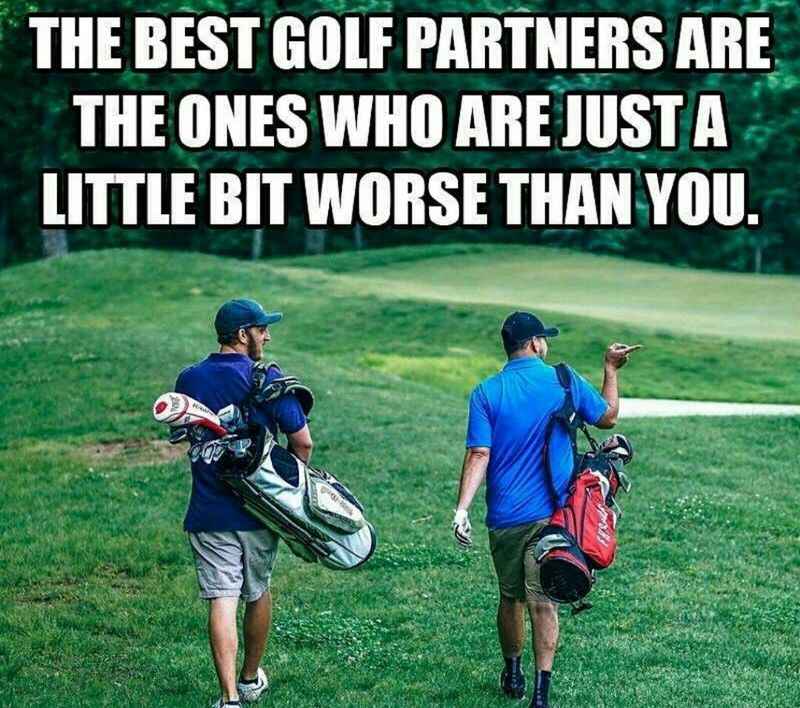 funny golf meme golf partner