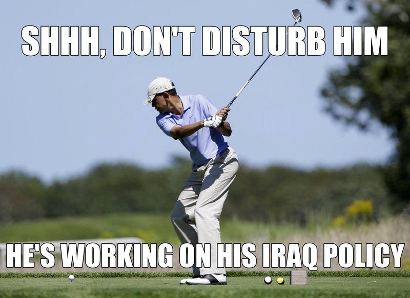 golf meme obama